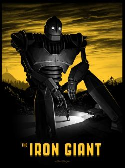 drawnblog:  sirmitchell:  My Iron Giant poster being released by Mondo today at NYCC. You can see the variant edition here.  Holy moly frijole cannoli! Mike Mitchell, again for the win.