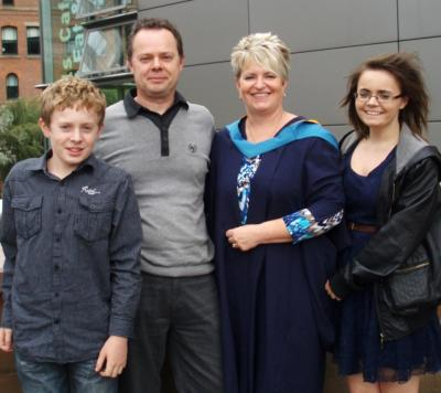 Mum's graduation! :)p.s ignore the bit of hair, it was windy :c
