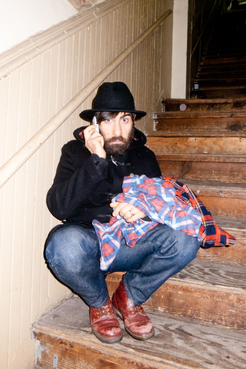 terrysdiary:  Jason Schwartzman on my stairs #1