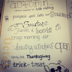 my list of why I love autumn :)