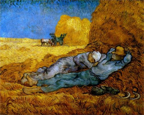 Rest after Work ~ Vincent Van Gogh