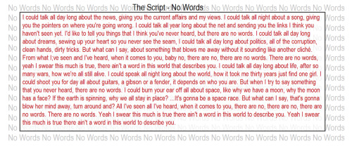 the script no words