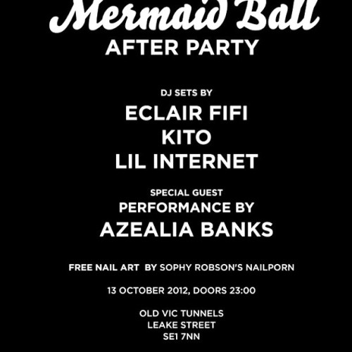 thisisnailporn:  We'll be nailporning at @azealiabanks Mermaid Ball After Party tomorrow night #nobiggie (Taken with Instagram)  Dope.