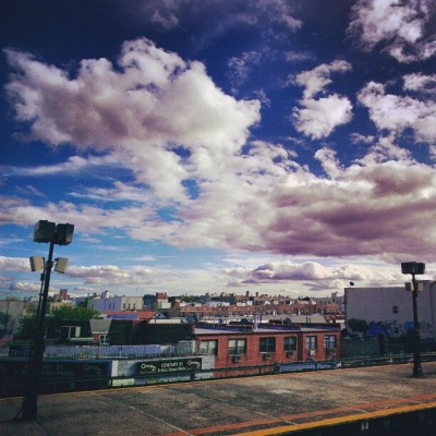 Queens in the clouds. #nyc #astoria  (Taken with Instagram)