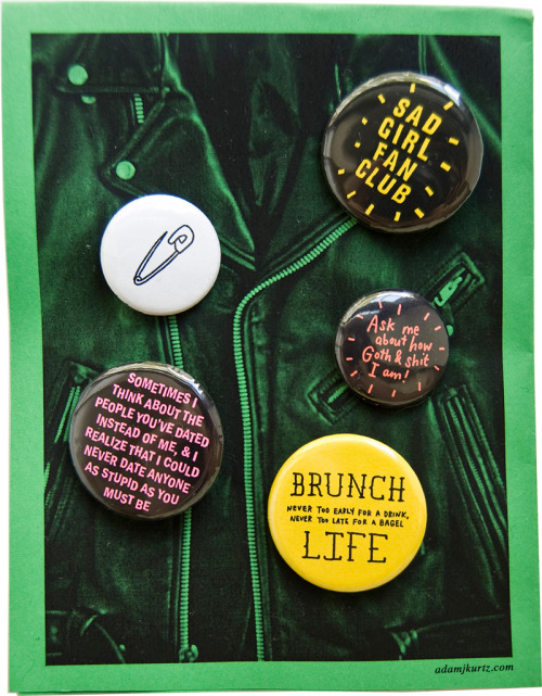 5 pins to wear & share