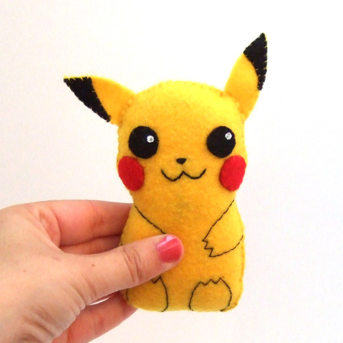Pikachu, we love you!  Super cute pikachu plush :-) You can buy it here: https://www.etsy.com/listing/111561080/super-cute-pikachu-felt-plushie Or see the rest of my etsy shop here: http://www.etsy.com/shop/yael360