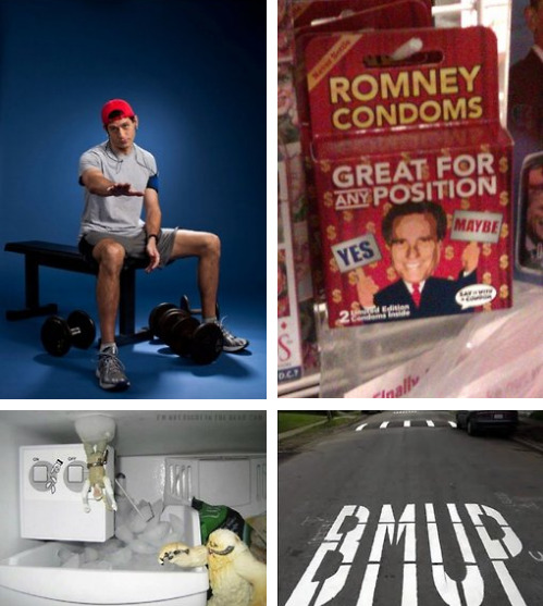 BEST PICTURES OF THE WEEK [Click to view full gallery] Bro Ryan, Romney Condoms and many more.
