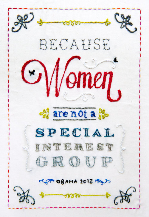 Because women are not a special interest group.