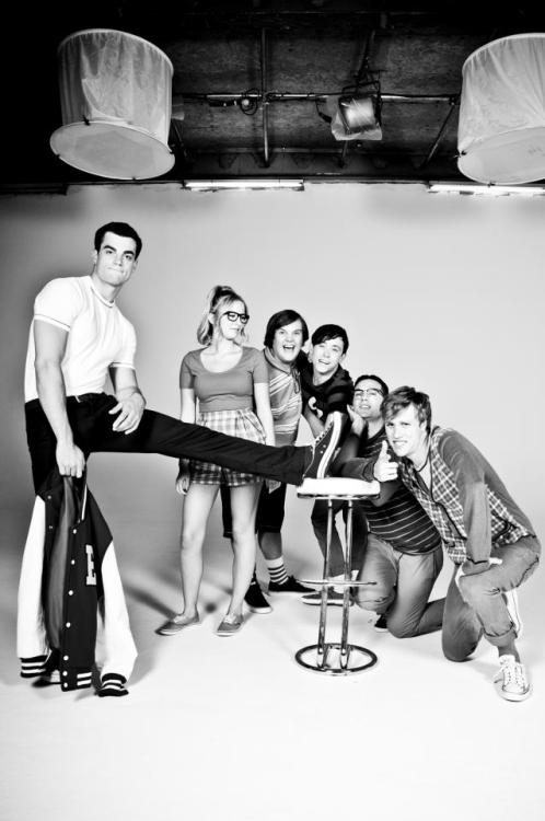 Check out our cast ready and in place for a photoshoot'