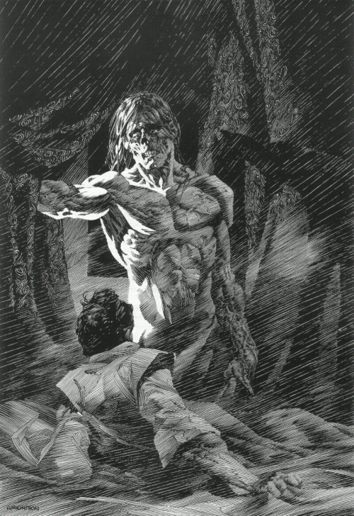 Frankenstein by Bernie Wrightson Happy Halloween!