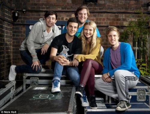 'Check out our awesome cast posing for a backstage Rehearsal photo for The Daily Mail!'