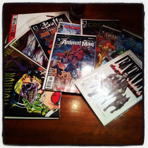 #swag #comics #horror #swampthing #animalman (Taken with Instagram)
