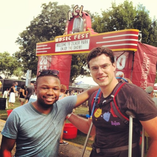 Austin City Limits music festival with my crippled buddy.  (Taken with Instagram)