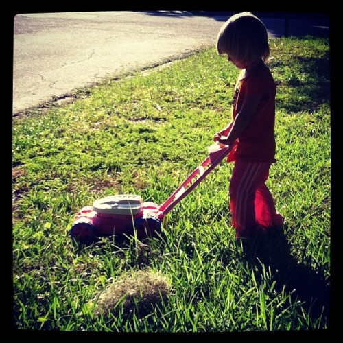 Yard work (Taken with Instagram)