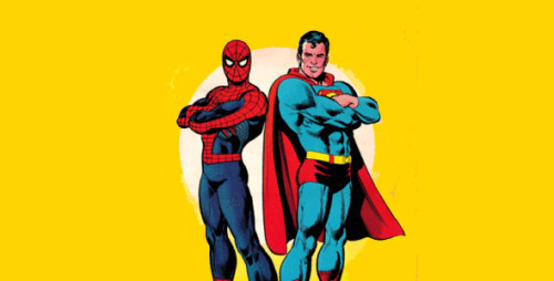 grizzlybomb:  Superman and Spider-Man are getting new clothes. Is their costume change an artistic or business move? You'll want to click on this, if for no other reason than to see The Hulk in a suit. Oh yea. What do you think?