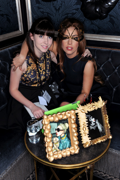 With Gaga at the Harrods FAME launch!