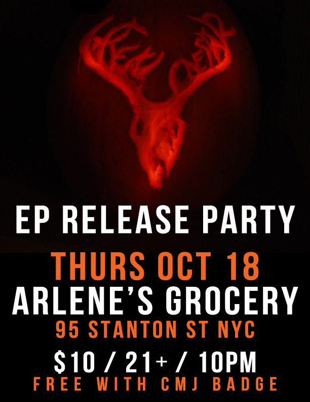 Our new EP Scattered Air comes out this Thursday and we're having a party to celebrate!  Oct 18 at Arlene's Grocery (95 Stanton St. NYC)Part of the Arlene's Official Favorites showcaseGC on at 10pm / $10 or free with CMJ badge / 21+ RSVP on Facebook