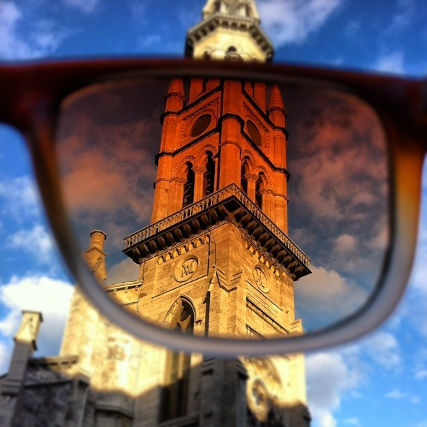 You've been Ray-Ban(ized)!! #streetphotography #church #montreal (Taken with Instagram)