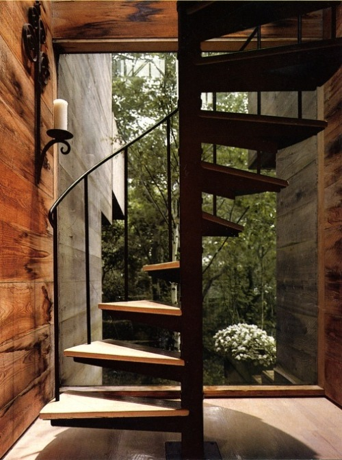 justthedesign:  Staircase At The Tree House By Bates Masi
