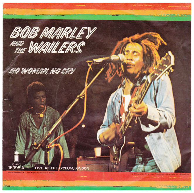"Bob Marley & The Wailers ""No Woman No Cry"" / ""Kinky Reggae"" Single - Island Records, Spain (1982)."