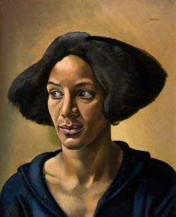 "lascasartoris:  ""The Creole"" (aka Portrait of a Negress – Hélène Yelin) by British artist William Patrick Roberts, 1923.  The model for 'The Creole' was mixed race Londoner Mrs Helène Yelin, who also posed for a bust by Epstein of 1919. The same model appears in Roberts's 'The Joke', 1923.  ""Drawing over the Colour Line: Geographies of art and cosmopolitan politics in London 1919 - 1939"""