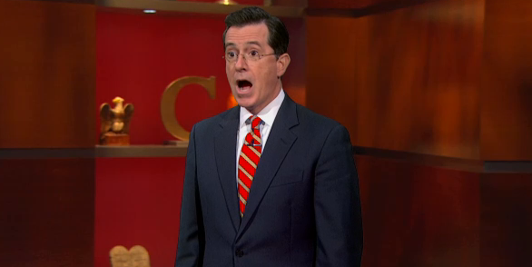 Stephen Colbert v Stephen Colbert Stephen: Hey, he is [Mitt Romney] looking out for the middle-class. Stephen: He's promising a 20 percent tax-cut for the top one percent. Stephen: Ah, but he's also promising to close their tax loopholes, so they'll still pay the same amount. Stephen: Theeen why cut their taxes.
