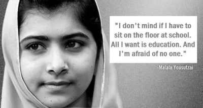 "thedailywhat:  The Girl Who Just Wants To Learn of the Day: Meet Malala Yousafzai, a 14-year-old Pakistani girl shot by the Taliban this week on her way home from school —  ""A bullet struck her head, but her brain is safe,"" one of her doctors reported. Why is the Taliban targeting her? Because she openly campaigns online and in her country for education for girls. A Taliban spokesman says that if she survives, they'll come for her again: She was pro-West, she was speaking against the Taliban and she was calling President Obama her idol. She was young but she was promoting Western culture. [newyorker]  Everyone needs to know about this young lady. Malala Yousafzari went to school against the Taliban's wishes and actively spoke up about how women should be entitled to the right of education, the right that we sometimes take for granted her e in the United States. This young lady knew she was making herself a powerful enemy, but thought speaking up about education and continuing her own was more important. Her bravery is astounding to me. On 9 October 2012, Yousafzai was shot in the head and neck in an assassination attempt by Taliban gunmen while returning home on a school bus. She remains unconscious and in critical condition. She's only 14 years old. Please just keep her in your thoughts."