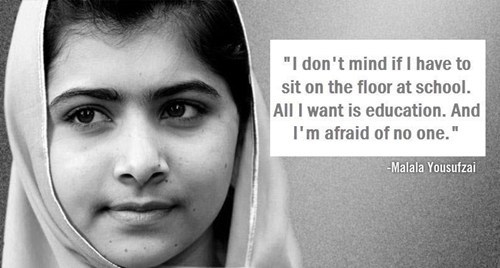 "The Girl Who Just Wants To Learn of the Day: Meet Malala Yousafzai, a 14-year-old Pakistani girl shot by the Taliban this week on her way home from school —  ""A bullet struck her head, but her brain is safe,"" one of her doctors reported. Why is the Taliban targeting her? Because she openly campaigns online and in her country for education for girls. A Taliban spokesman says that if she survives, they'll come for her again: She was pro-West, she was speaking against the Taliban and she was calling President Obama her idol. She was young but she was promoting Western culture. [newyorker]"