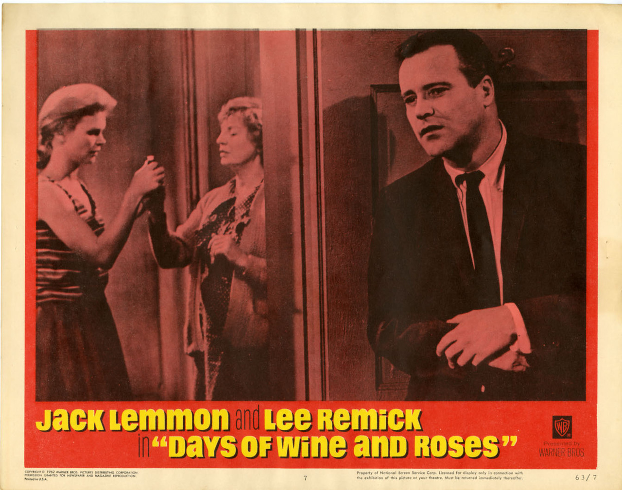 Days of Wine and Roses, US lobby card #7. 1963 Submitted by thedreamerspy