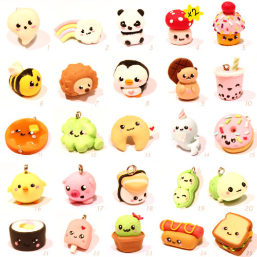 xodonnalove:  Kawaii Polymer Clay Charms!