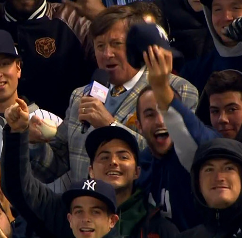 Oh… There he is! MLB ALDS Game 5 - Orioles @ Yankees Craig Sager in-game report