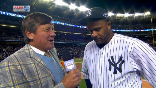 MLB ALDS Game 5 - Orioles @ Yankees Craig Sager post-game interview w/CC Sabathia