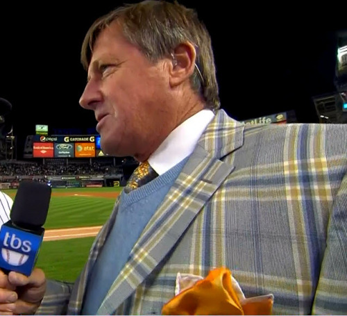 MLB ALDS Game 5 - Orioles @ Yankees Craig Sager post-game interview (close-up)