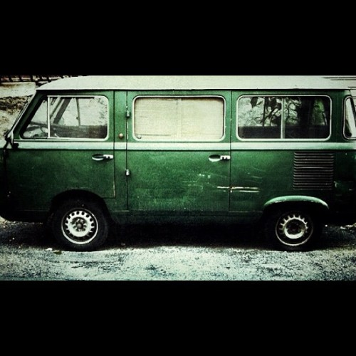 Oldies - #vintage #van #furgone #green #car #oldies (Scattata con Instagram)