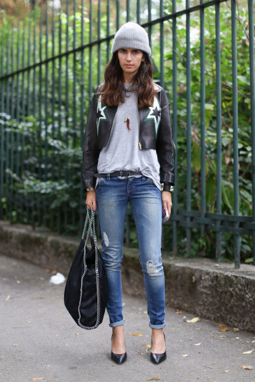 what-do-i-wear:  MFW Streetstyle (image:  Fashionologie)