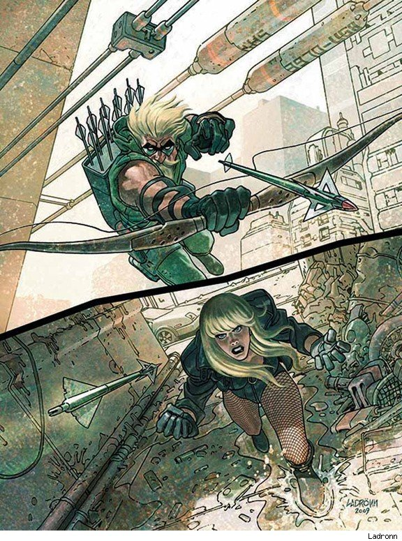 Green Arrow and Black Canary by Ladrönn