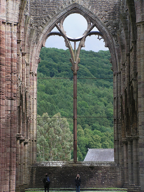 ysvoice:  | ♕ |  Great Window at Tintern Abbey - Wales, GB  | by © John of Witney