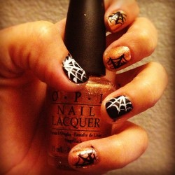 Not perfect but festive and fun none the less! 🎃👻💅😄 (Taken with Instagram)