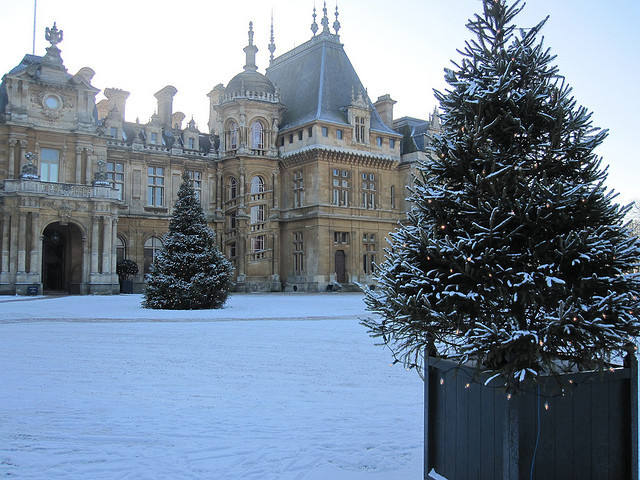 | ♕ |  Waddeson Manor in snow - NT of UK  | by © John of Witney