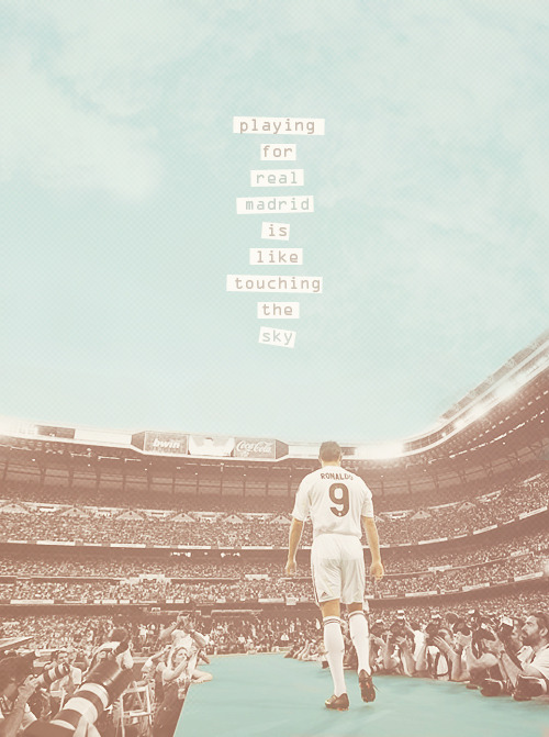 "48dreams:  football meme → quotes    ""Playing for Real Madrid is like touching the sky. Real Madrid has always been my first choice as a team and Madrid has always been my favorite as a city."" - Juanito"