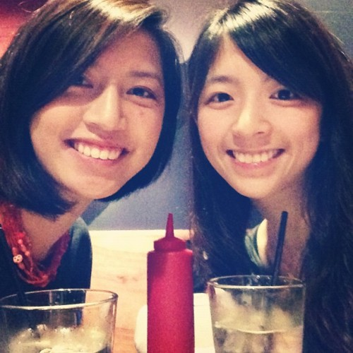 Sister date at Umami Burger with @peijuang for her 20th birthday!  (Taken with Instagram)
