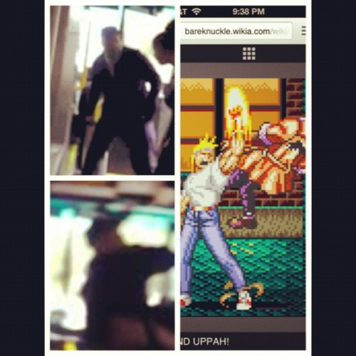 y2dereko:  BREH!!!! #picstitch #uppercut #bus #AxelStone #streetsofrage2  (Taken with Instagram)