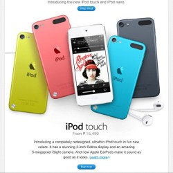 I received email from apple P16,490 ipod 5th gen ahhh ok :)))))  (Taken with Instagram)