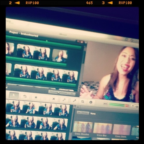 "My fast and slow covers of ""Brokenhearted"" by Karmin. Posting it soon!! 🎤🎧🎶 #recording #video #cover #brokenhearted #imovie #dianedemesa #music #karmin #youtube #editing #media #igers #follow #instagramers  (Taken with Instagram)"