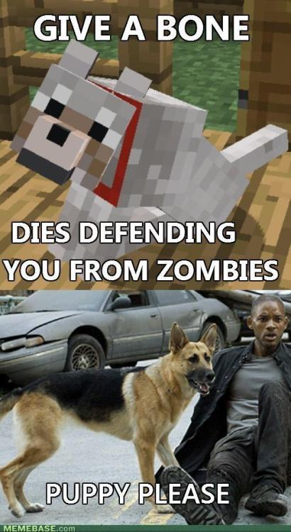 onlyminecraftmemes:  I Am Legend Reference