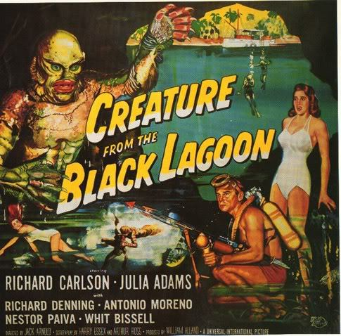 theniftyfifties:  'Creature from the Black Lagoon' - 1954 film poster.