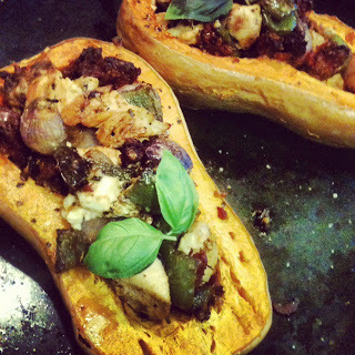 tam-adores:  Baked Butternut Squash, Stuffed with Goodness!