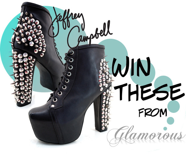 JEFFREY CAMPBELL GIVEAWAY GO TO http://www.facebook.com/pages/Glamorous/181807998507723?sk=app_228910107186452 Open worldwide, ends Oct 13
