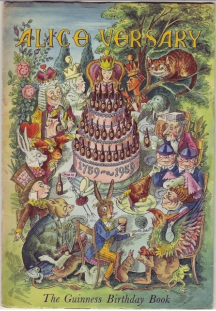 alicismo:  Guiness Alice-versary birthday book. - 1959 Illustrations by Ronald Ferns