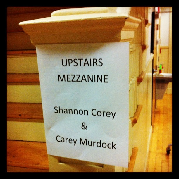 In the Mezzanine… #coreymurdocktour2012 @shannoncorey8 #careymurdock #cm @jaredsalvatore was there too! #livemusic  (Taken with Instagram)